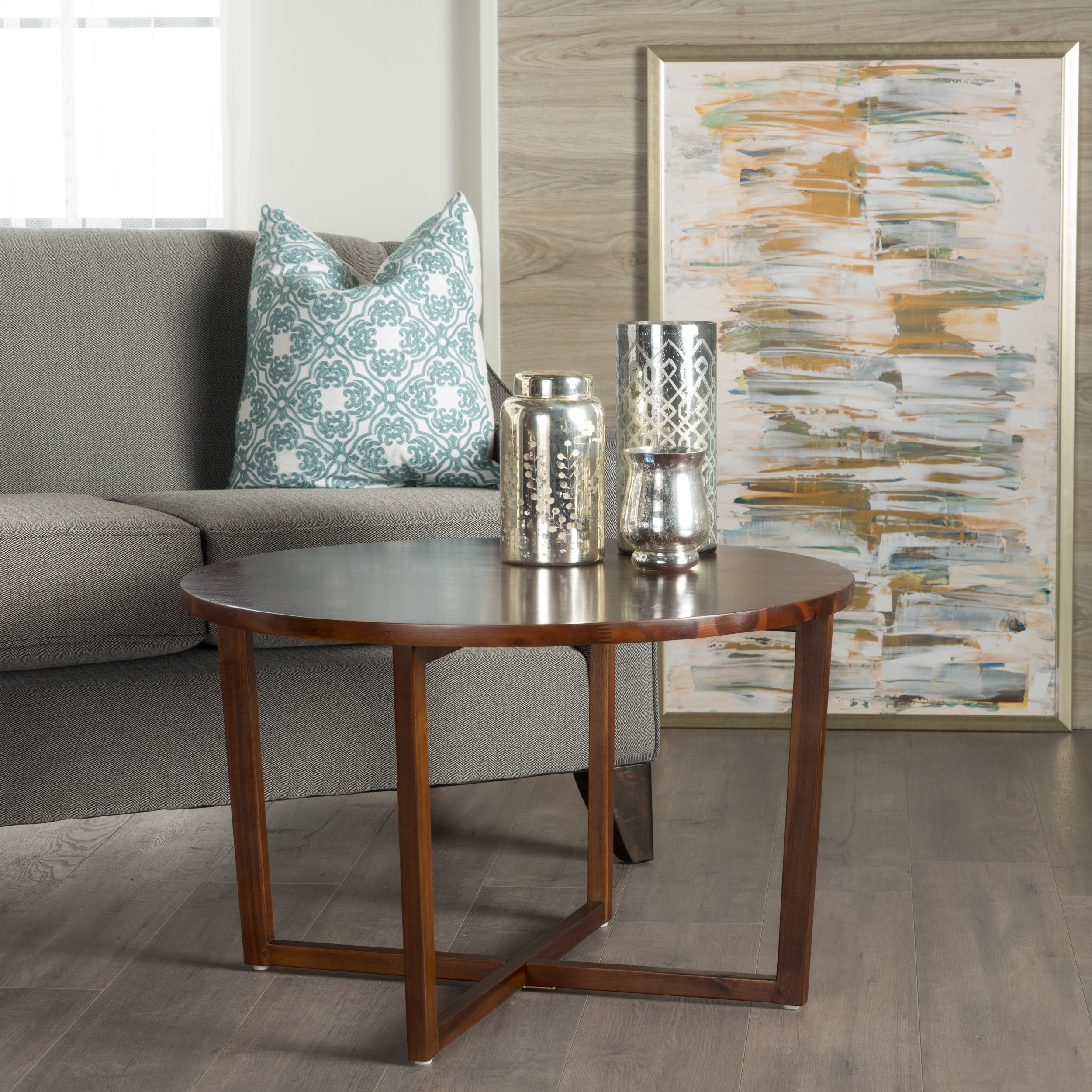 tansy round acacia wood accent table christopher knight home free shipping today rectangular patio with umbrella hole end tables nautical chair target threshold coffee bunnings