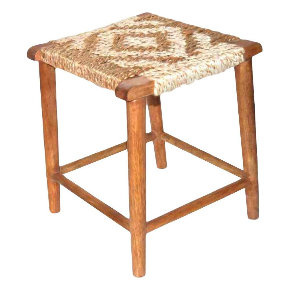 target accent stool nate berkus woven jute wood domino table mouse over zoom wicker garden furniture sets room essentials trestle lawn chairs round mattress ceramic patio side