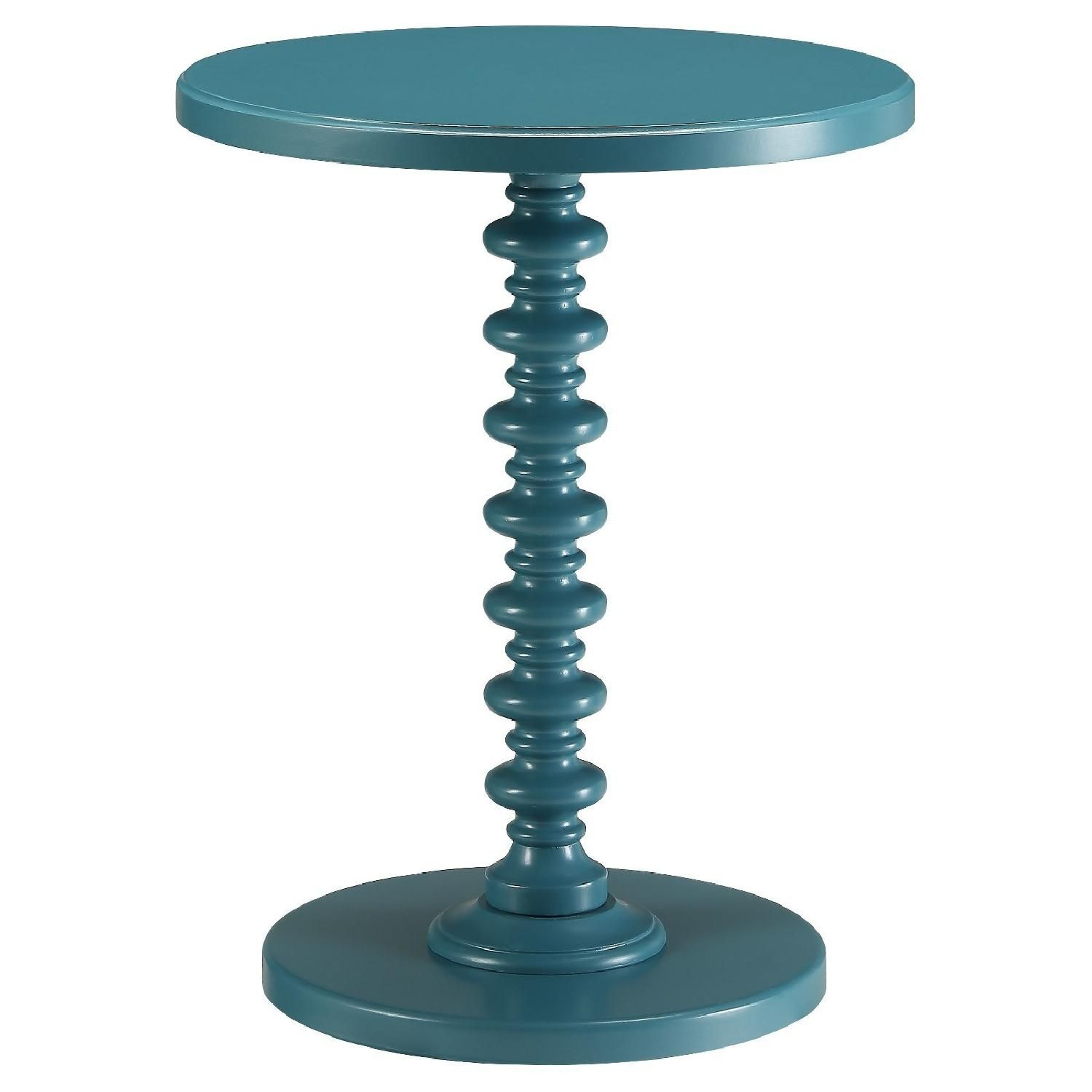 target acton side table blue nyc life margate accent bargain garden furniture ikea round glass safavieh distressed wood coffee threshold bunnings cane chairs small leather