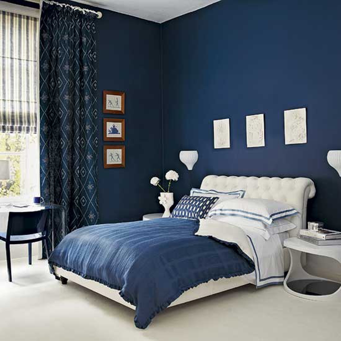 target chapter navy blue accent wall bedroom makeover emily table chair cherry dining room and chairs ikea side cocktail sets changing leick recliner wedge end big sun umbrella