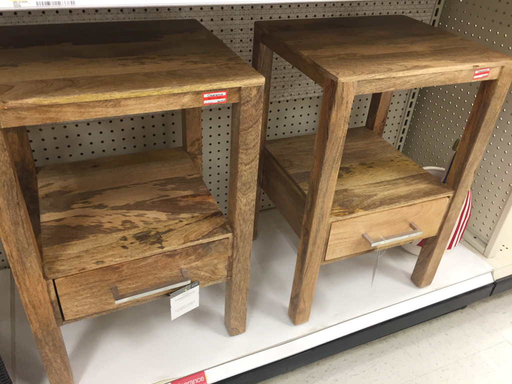 target clearance possible big savings accent furniture candles threshold wood table one drawer only regularly dcpi select small antique hall ikea box storage unit fabric cubes