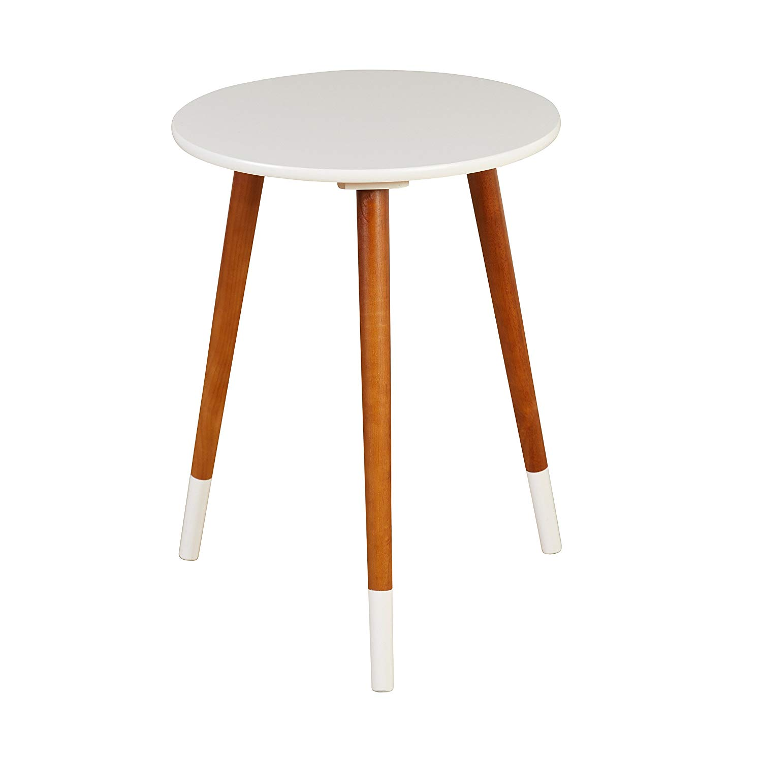 target marketing systems livia collection ultra modern round end table with splayed leg finish white wood neelan accent kitchen dining indoor door mats home goods garden umbrella