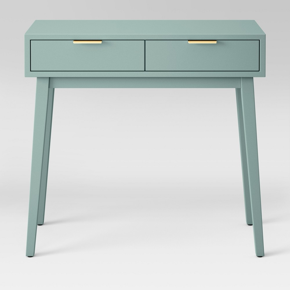 target project hafley two drawer console table smoke green accent black bedside lamp threshold windham antique rectangular dining interior sliding barn doors room office furniture
