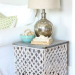 target summer basket becomes chic side table hymns and verses endtable wicker accent this turned upside down formed the base for small coffee with drawers ikea concrete wood 150x150