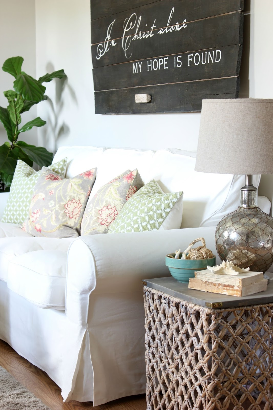 target summer basket becomes chic side table hymns and verses made end turquoise accent but this wicker few other things did come home with knew could make great summertime the