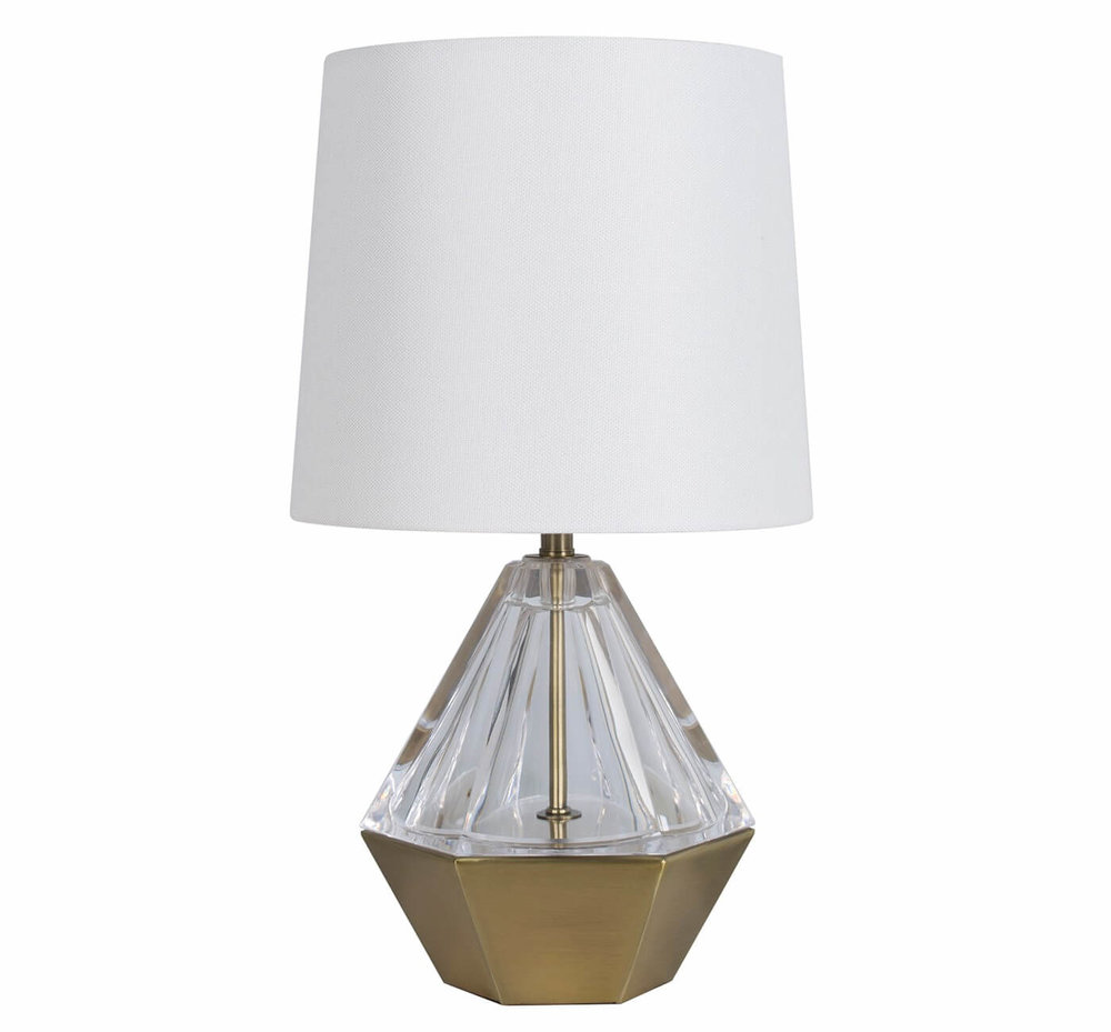 target table lamps that make chic fresh statement your acrylic prism accent project lamp courtesy round marble kitchen large sun umbrellas pottery barn side with drawer white
