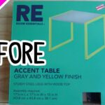 target table transformation part yellow accent unfinished wood coffee legs decorative corners uttermost tables white side for living room pier one dining free topper quilt 150x150