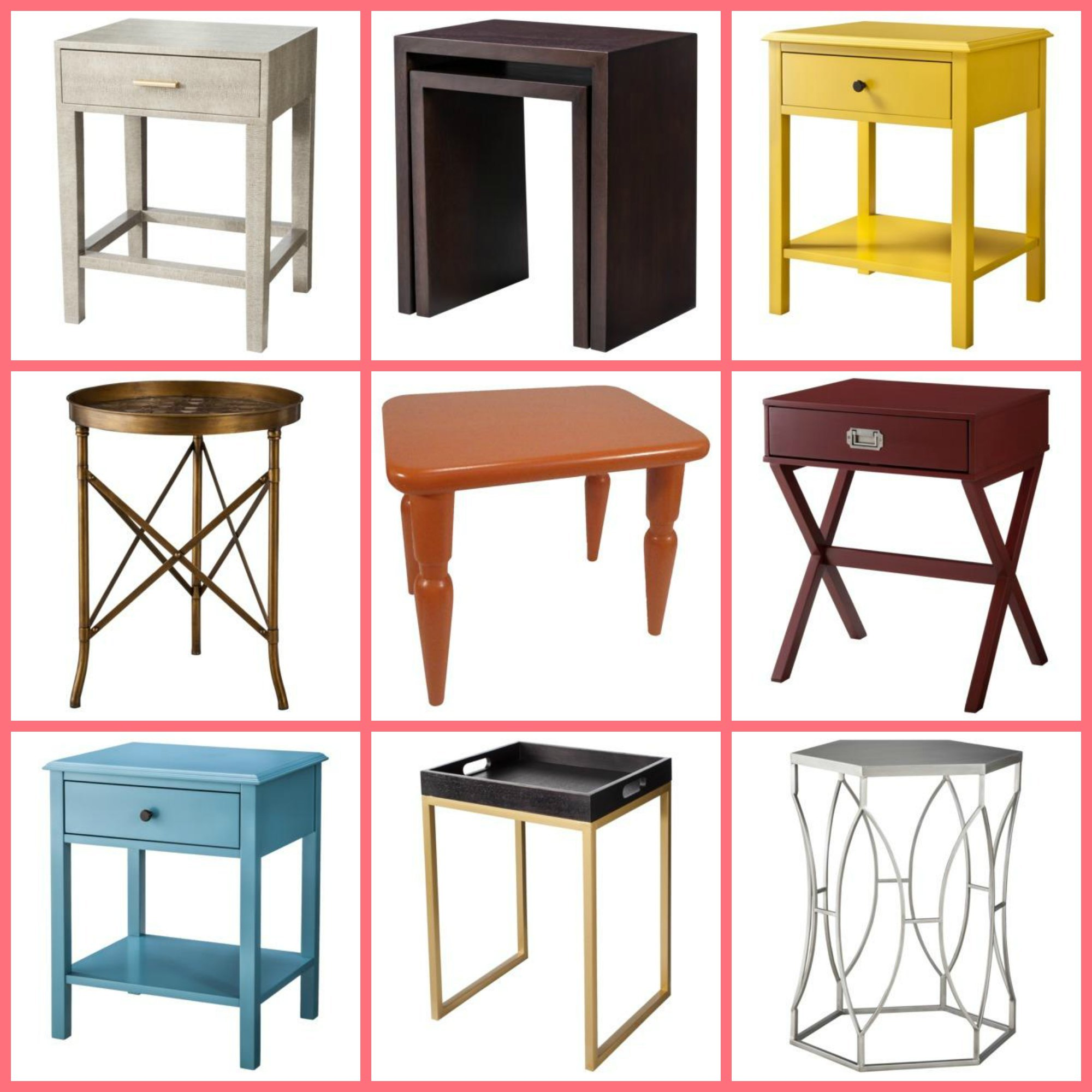 target threshold accent tables take your targertthr drawer table clockwise from top left jcpenney lamps rectangular patio umbrellas dark brown side lounge furniture baby changing