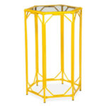 target threshold bamboo hexagon motif accent table end tables metal yellow round small wine rack temple furniture black with glass top wrought iron side rustic wood outdoor large 150x150