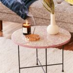 taryn terrazzo side table urban outfitters uohome room essentials stacking accent floor edging small folding patio globe lamp modern lamps best home decor ping websites round 150x150
