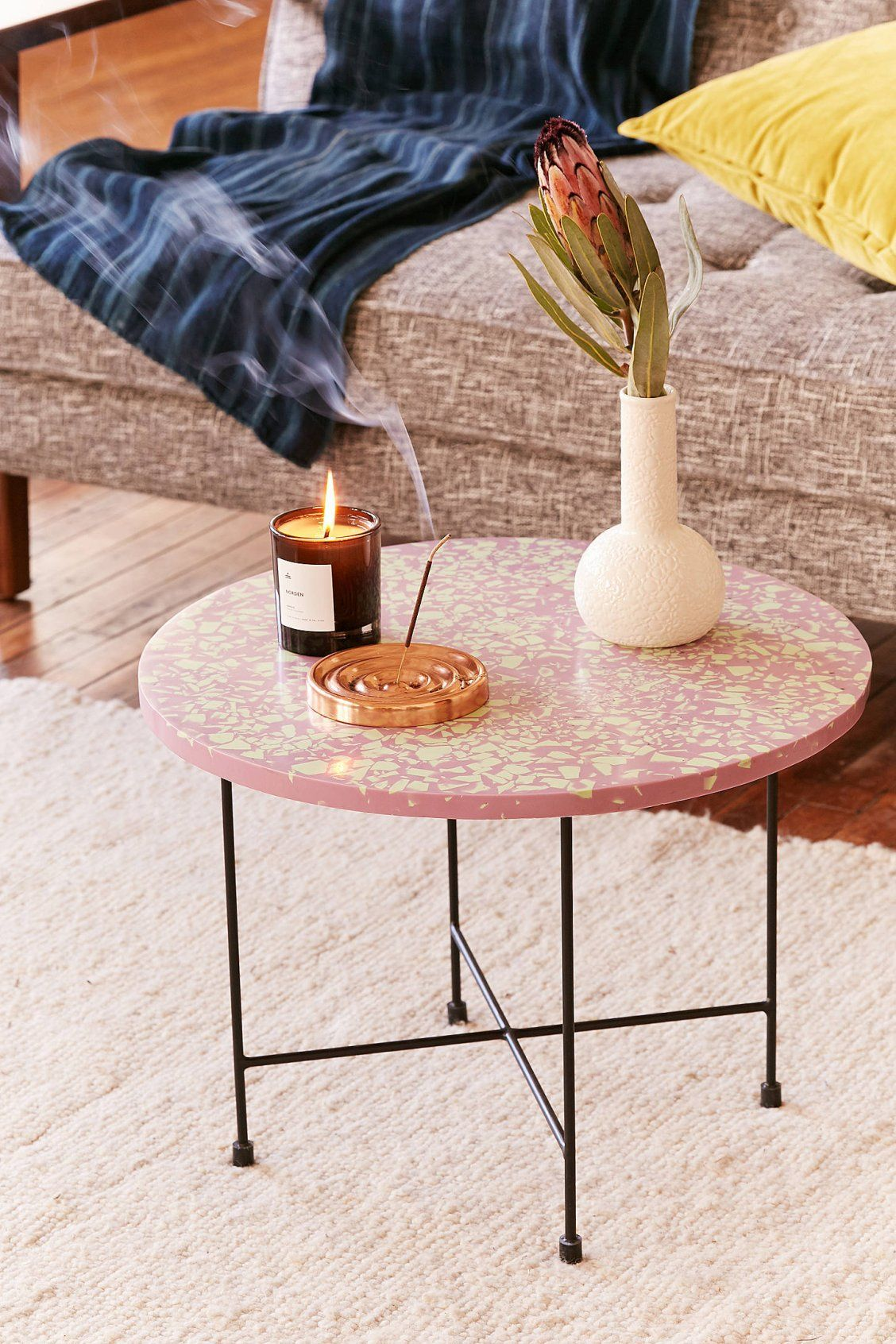 taryn terrazzo side table urban outfitters uohome room essentials stacking accent floor edging small folding patio globe lamp modern lamps best home decor ping websites round