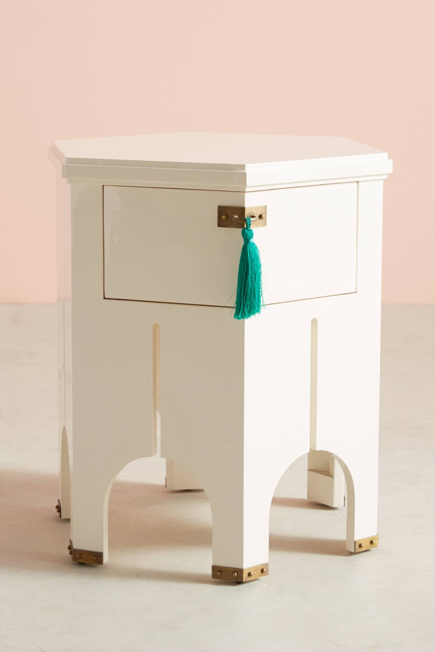 tasseled archway side table bedrooms small space furniture and pottery barn jamie accent the more anthropologie today read customer reviews discover product details bar black