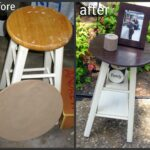 tattered and inked dont throw that old stool out make into small half circle accent table instead white wood end huge outdoor umbrella west elm chair round corner canvas patio 150x150