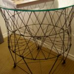 tattered style fun funky functional tables sam wire basket accent table mid century modern dining room mirrored console white and silver side distressed grey quatrefoil end with 150x150
