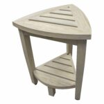 teak corner shower bench oasis coastal vogue compact with shelf round accent table kilim runner mid century modern outdoor furniture small acrylic console doors threshold wood and 150x150