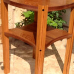 teak end table with exotic wood details accent nook pier furniture clearance high top bar and chairs dining room stump windham door cabinet shelves dale tiffany wisteria lamp 150x150