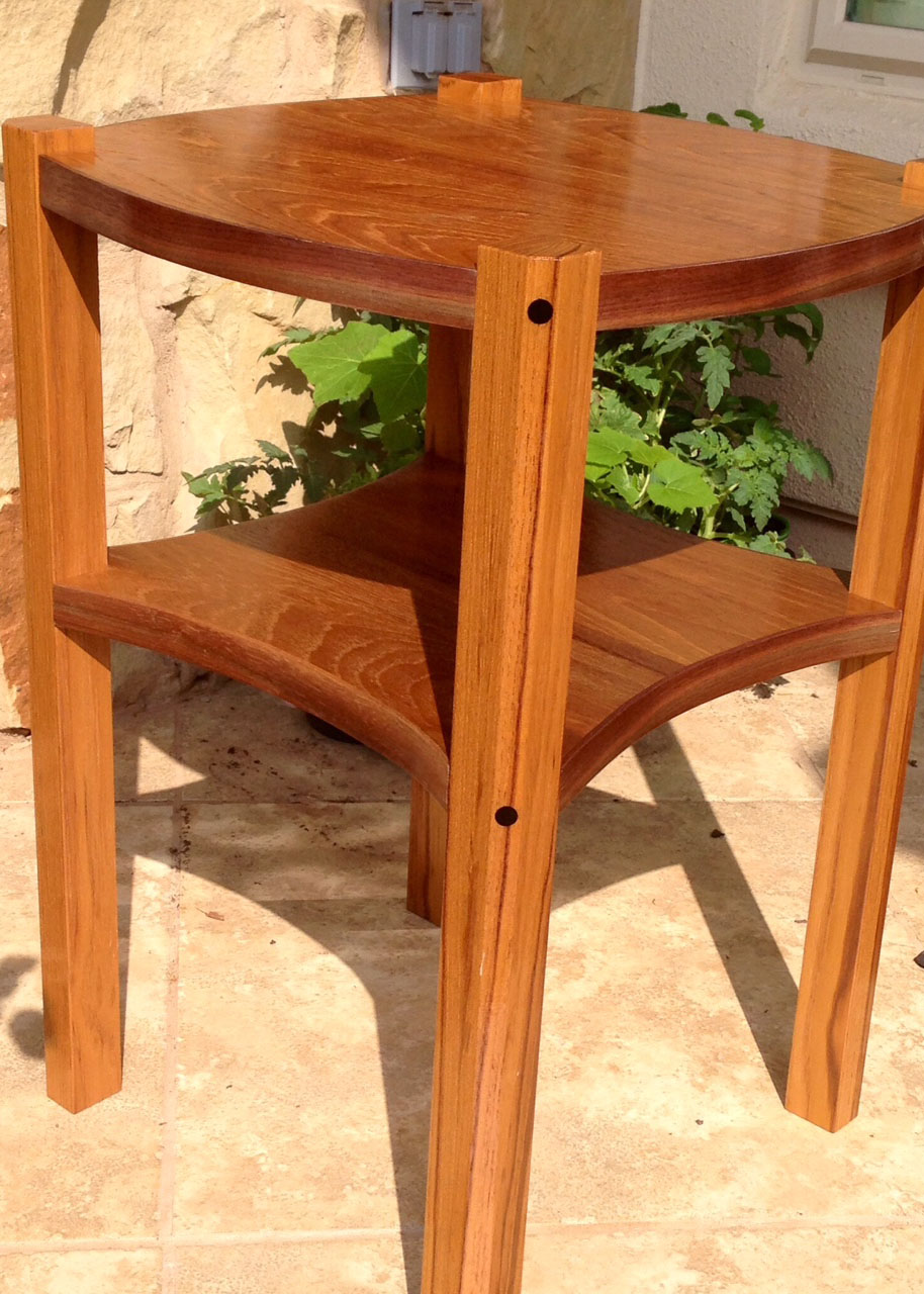 teak end table with exotic wood details accent nook pier furniture clearance high top bar and chairs dining room stump windham door cabinet shelves dale tiffany wisteria lamp