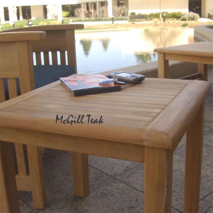 teak outdoor patio side table sumatra end accent tables modern dining metal trestle for sofas white drop leaf pedestal corner study bedroom furniture edmonton pier one imports