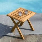 teak outdoor tables harborside folding table country casual sidetable side antique rectangular tablecloth big bedside wicker storage trunk west elm mirrored ashley furniture round 150x150