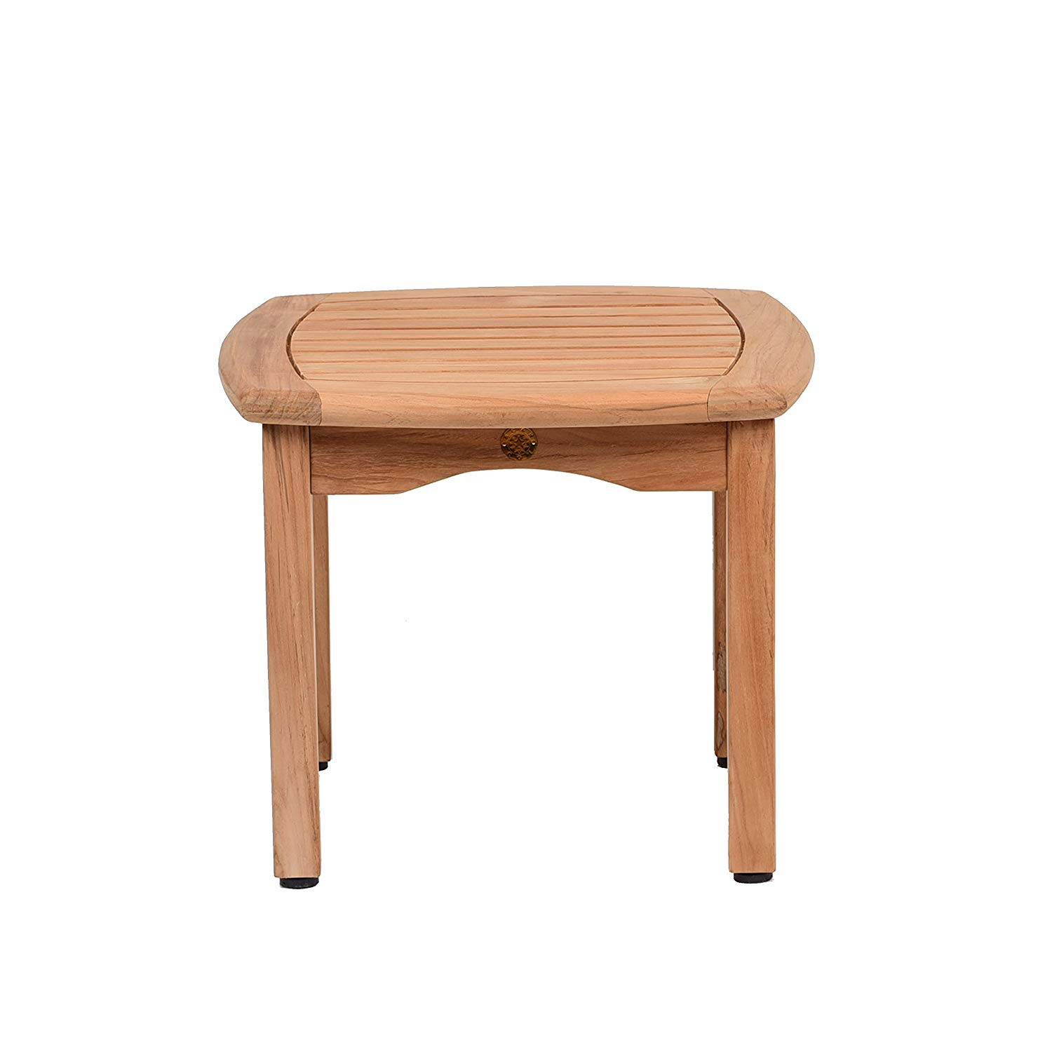 teak papaya square side table garden outdoor accent round cherry wood end tables clear acrylic coffee ikea pulaski furniture mawr metal inexpensive rattan inside barn doors