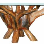 teak root coffee table including inch round glass top accent made chic kitchen dining threshold wood and metal pottery barn side with doors usb lamp boys bedroom furniture 150x150