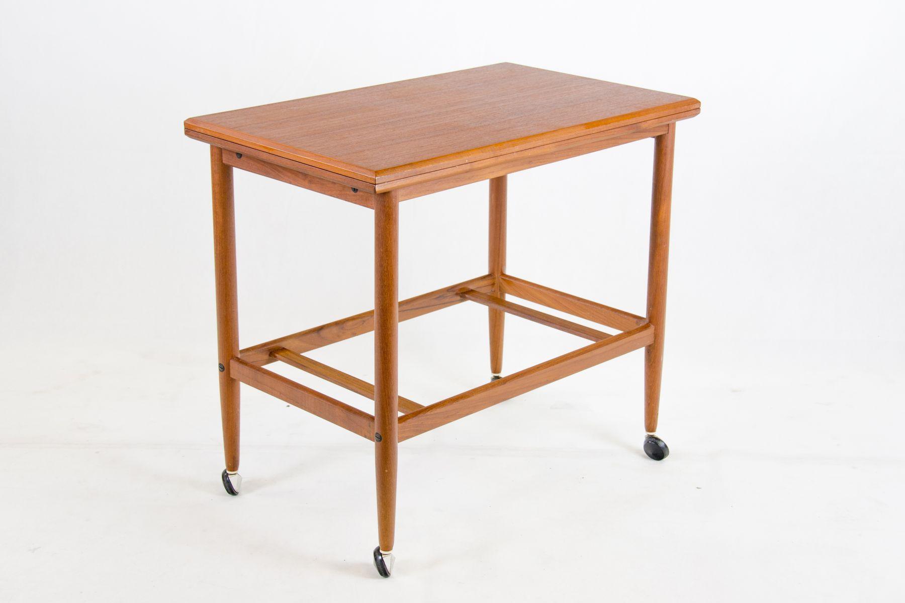 teak trolley with removable tray foldable tabletop from dyrlund accent table per piece arc floor lamp vintage scandinavian chair umbrella carpet cover strip and chairs narrow sofa