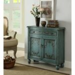teal accent cabinet side table chest doors shelves vintage lotta door with details about distressed entry decor pottery barn trestle bark thins target turquoise home accents for 150x150