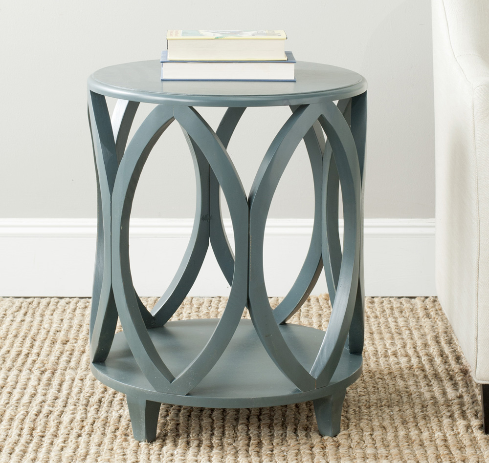 teal accent table furniture design nice with safavieh janika inch round dark collections blue interior ideas for living room large trunk coffee storage cabinets doors tables