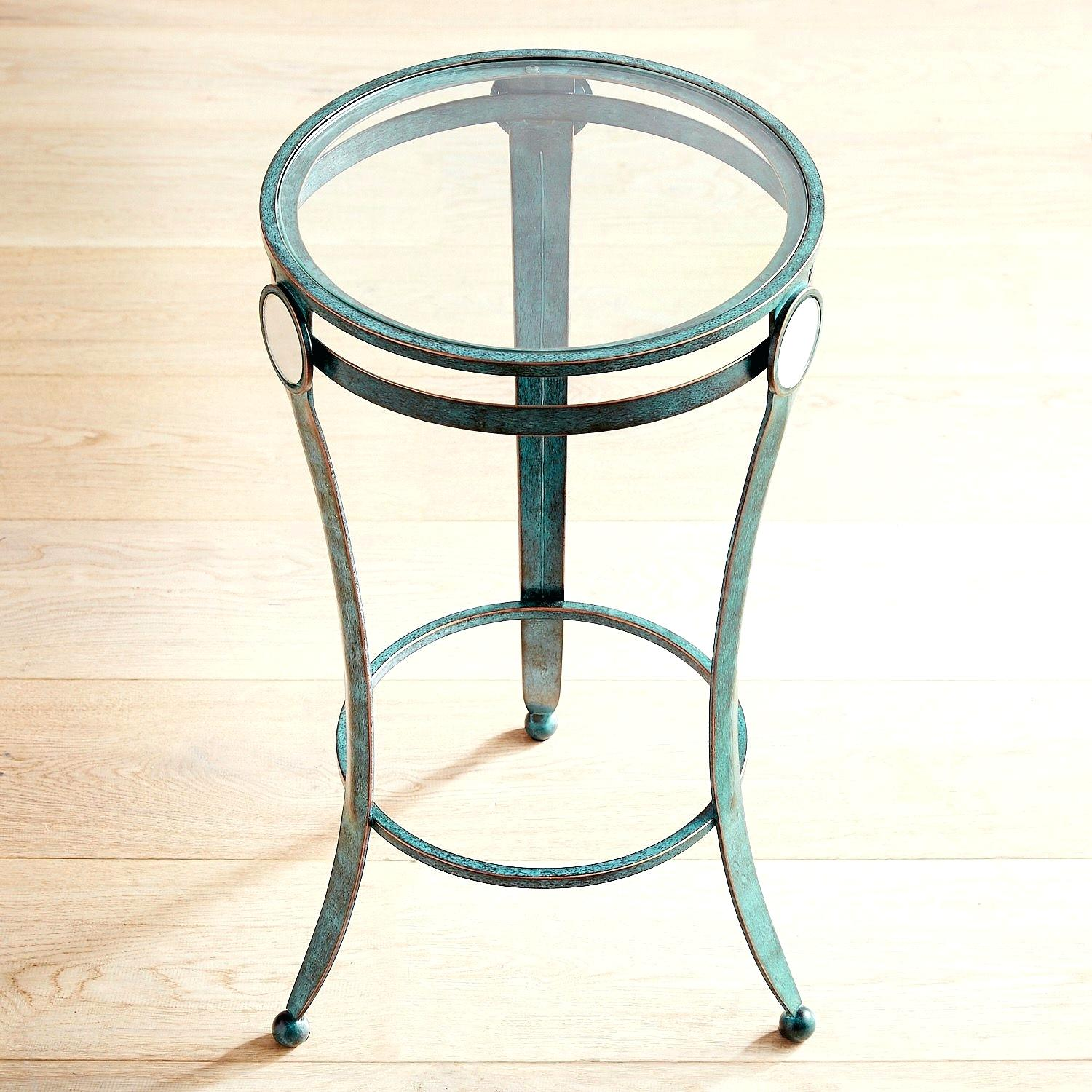 teal and black table decorations blue accent tables living room lamp base iron pier imports one lamps that use batteries insulated ice bucket glass mirror nightstand cool retro