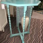teal colored table divine consign home treasures accent plant stand bright aqua can double standbr office furniture portland mirror lamp foyer with storage pottery barn plans 150x150