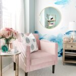 teen room refresh gallery wall and glam accents house pink accent chair gold table marble this gorgeous ombre vase can also found target threshold drawer kitchen set turquoise 150x150