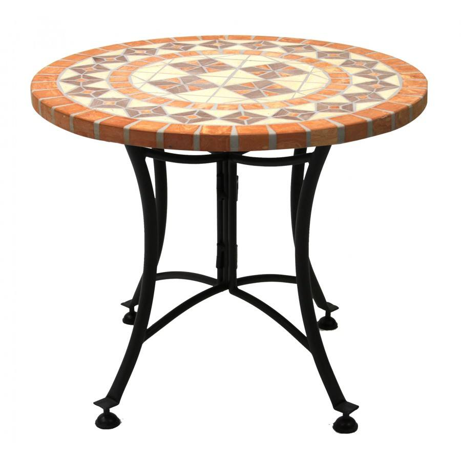 terra cotta mosaic accent table profile outdoor pottery barn glass top coffee pub dining set white ginger jar lamps garden storage solutions nautical themed floor clear and gold
