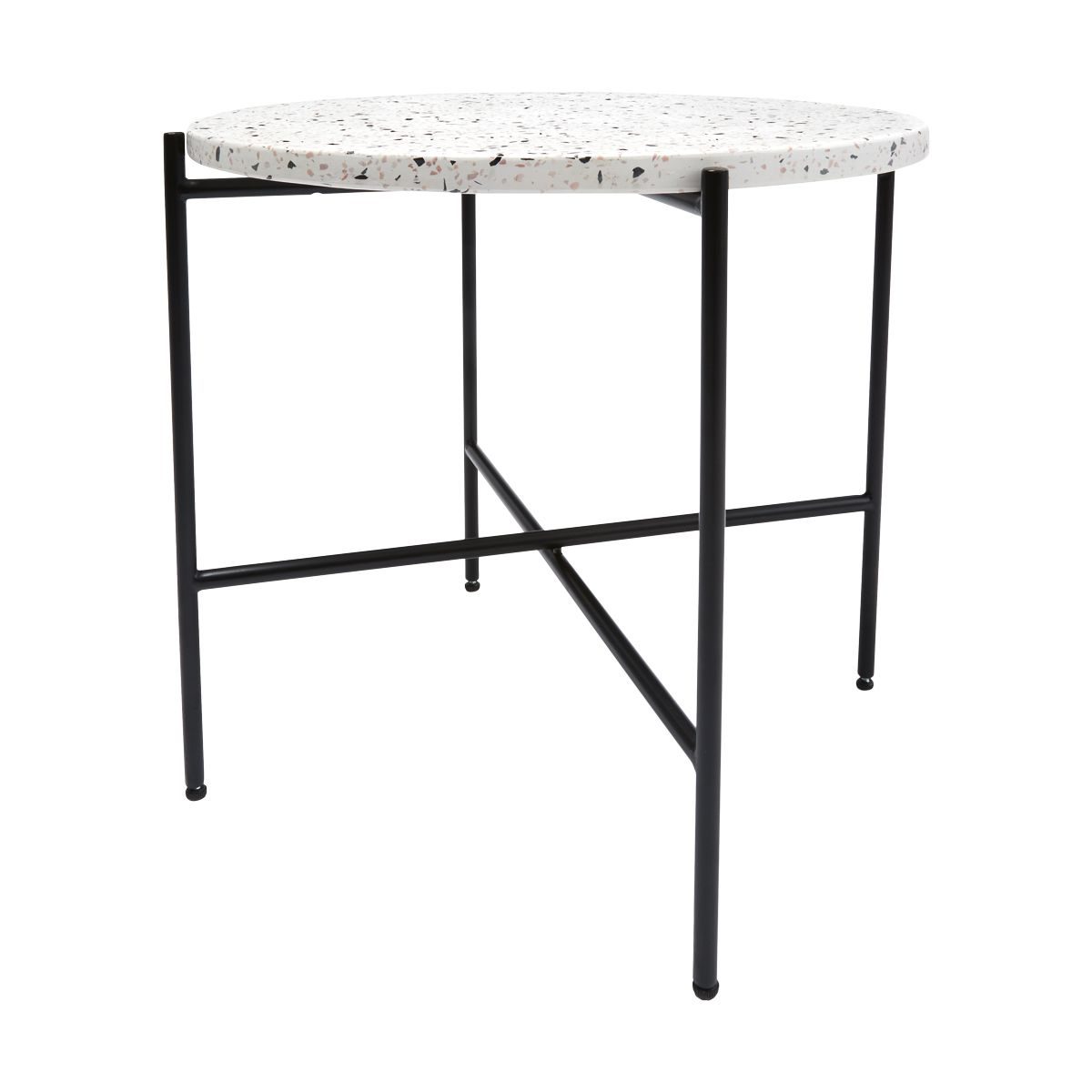 terrazzo side table kmart for the home outdoor round tables living room small tall coffee inch lamp ikea play floating feather light shade hotel lamps with usb ports ryobi brown