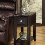 terrific small side table options for your living room ashley signature design breegin chair end dark wood accent furniture rectangular with nickel tone hardware and narrow white 150x150