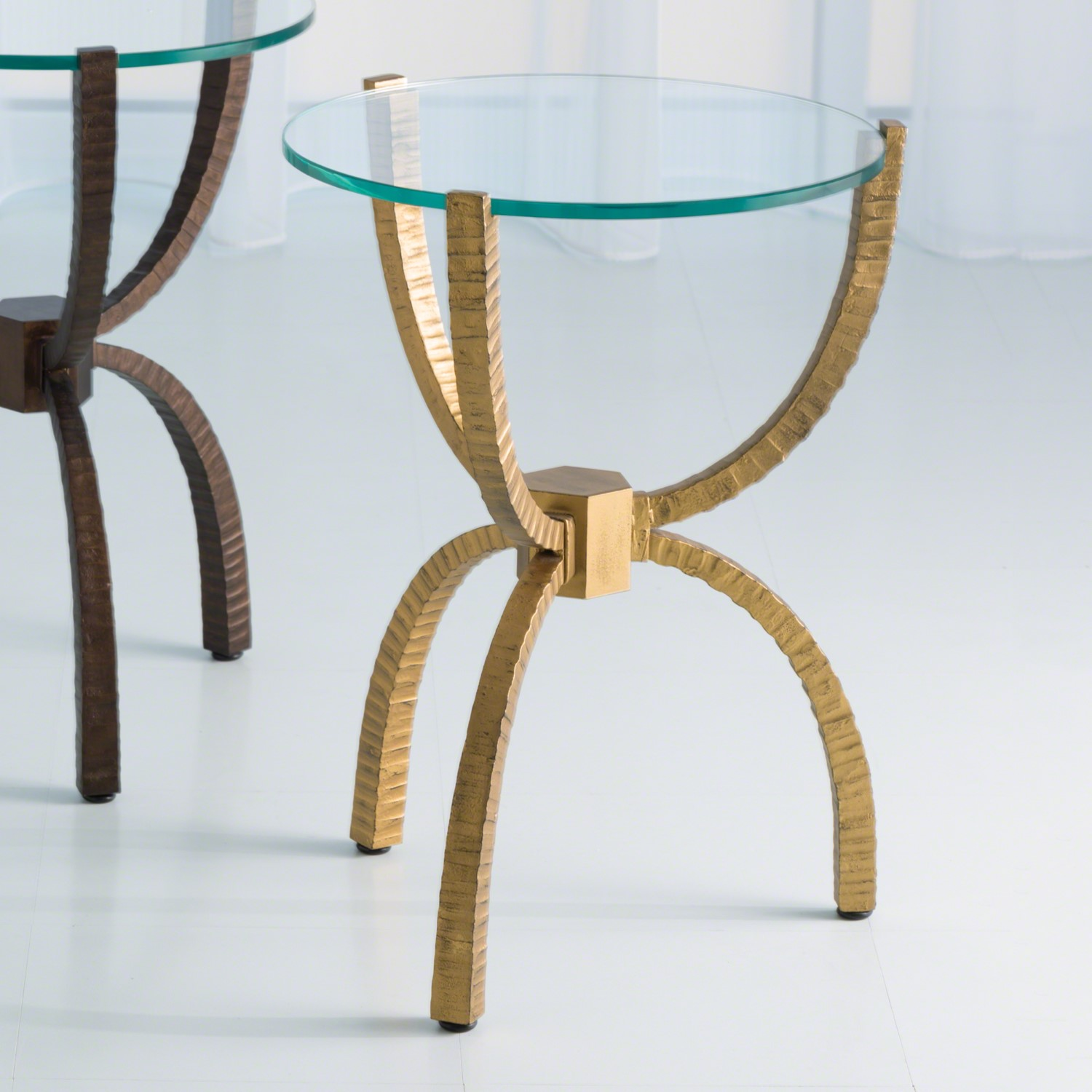 teton accent table gold metal small marble rustic chic end tables black glass set dining and chairs with folding sides chair usb groups counter high shower curtains vintage brass