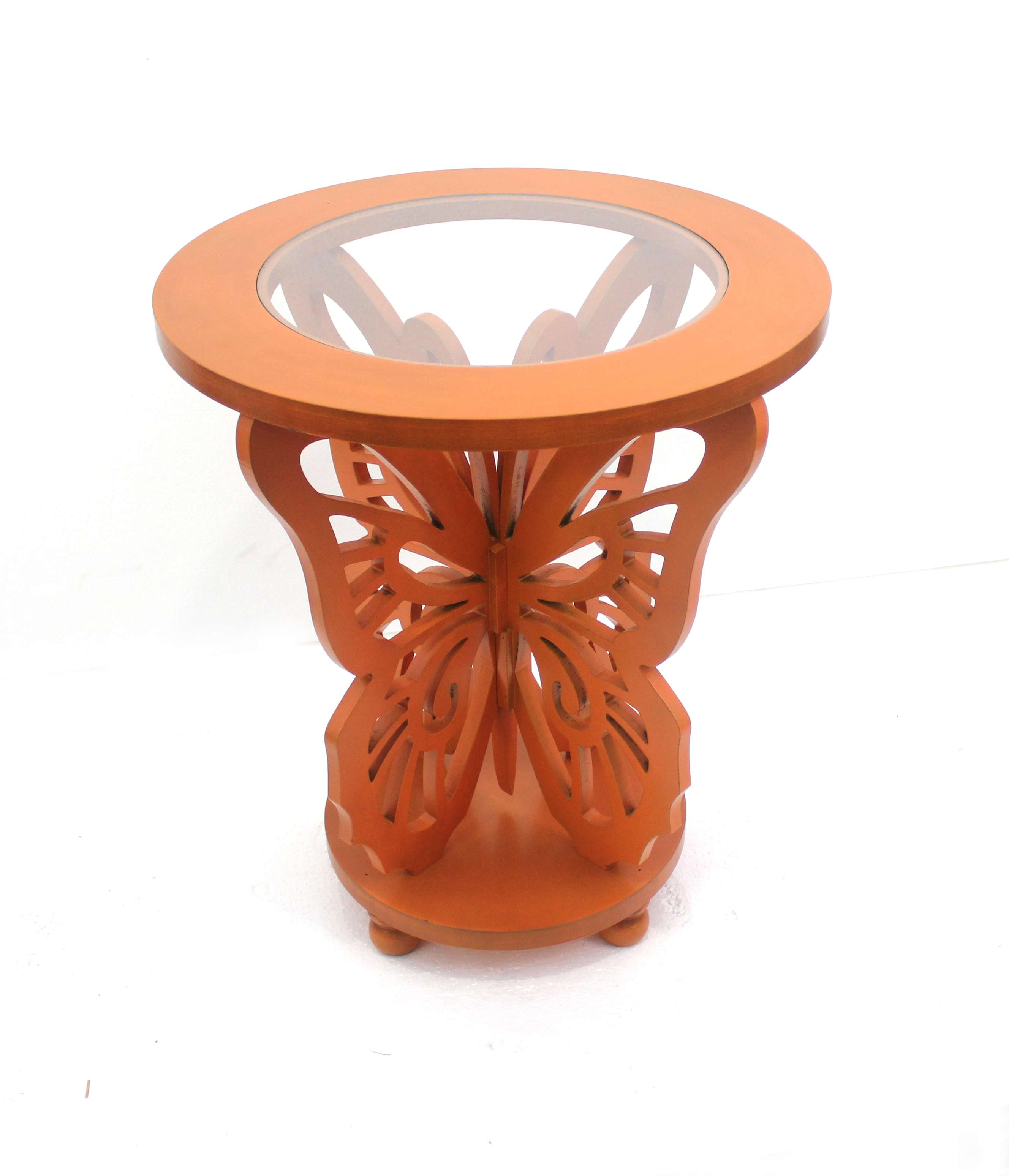 teton home orange wood butterfly accent table with glass top ceramic outdoor small patio umbrella hampton bay seat cushions bunnings chairs and tables vintage tier aluminum lawn