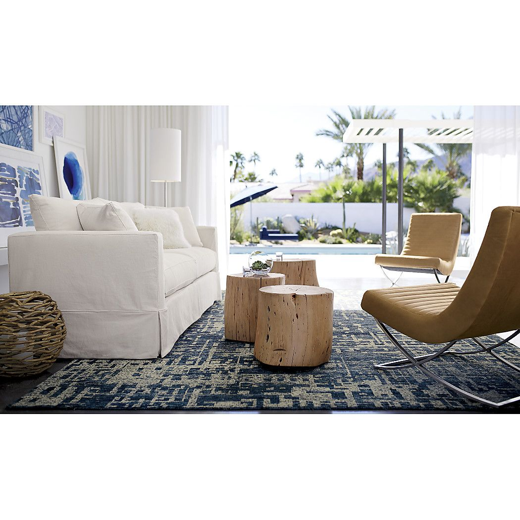 teton natural solid wood accent table decorating living room crate and barrel heavy duty casters tucked underneath make easy roll the where needed footrest tray blue white