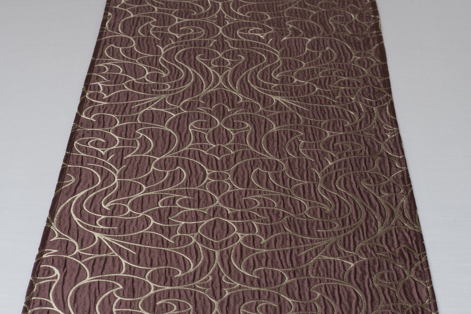textured swirl pattern burgundy ground iridescent taupe accent centerpiece table runner standard mirror side ikea inch round covers ceramic patio rustic furniture affordable
