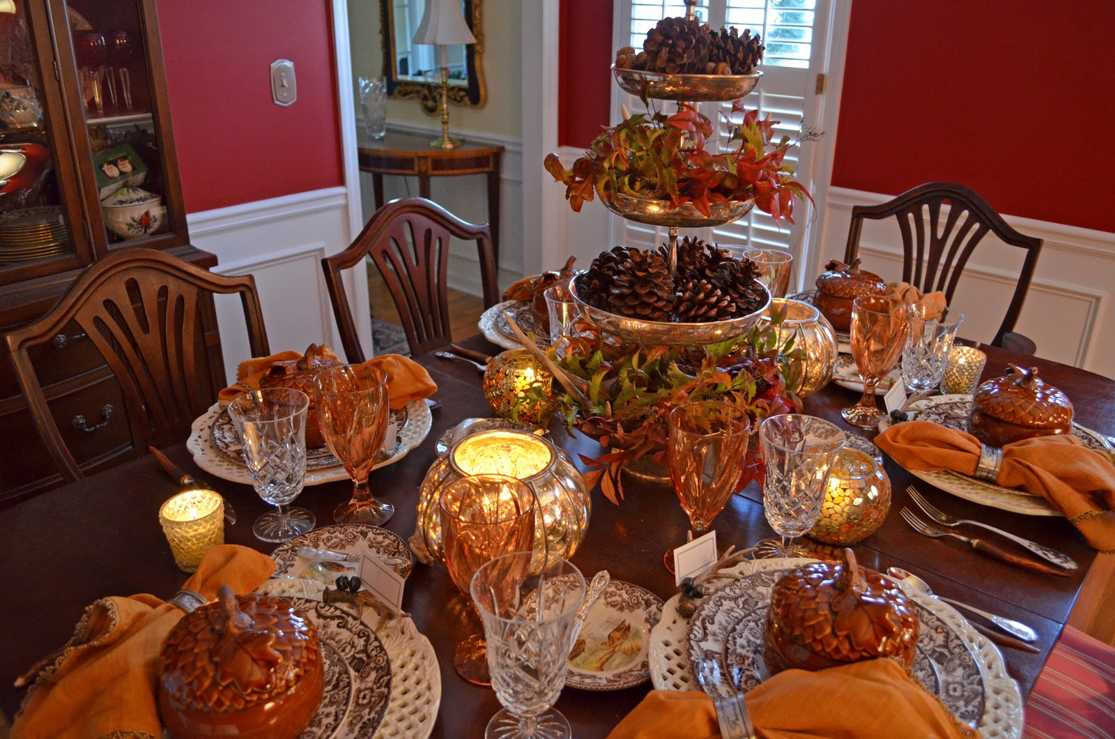 thanksgiving dining room table decorations setting house decorating round accent ideas wicker garden and chairs pier imports folding coffee ikea side glass razer ouroboros white