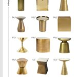 the best brass side tables every style and room for tuesday heavy shapes jules small accent table target wicker coffee pottery barn trestle dining patio marble office farm 150x150