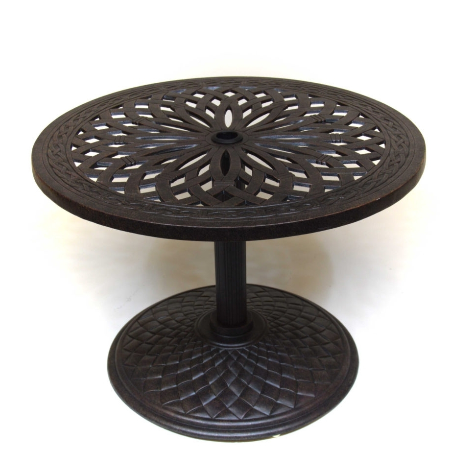 the best patio umbrella side tables well known hanamint fair round table outdoor furniture intended for bombay outdoors pineapple accent cast aluminum bar height dining sofa and