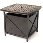 the best patio umbrella side tables widely used within hanover outdoor traditions tradumbtbl cast top table and bombay outdoors pineapple accent corner display cabinet chairs teal 150x150