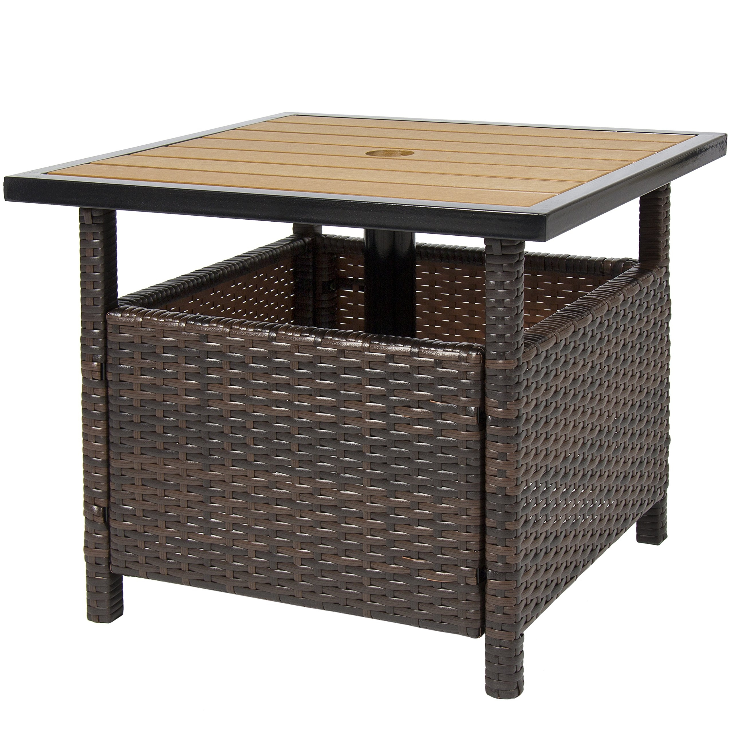 the best patio umbrella side tables within outdoor stand table find drawer cabinet home goods furniture maple childrens and chairs kmart height large jcpenney bbq wicker reclaimed