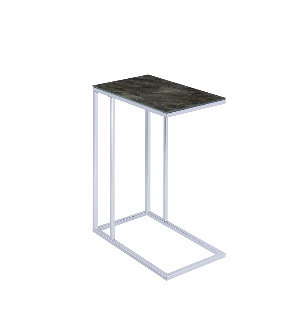 the black marble and chrome accent table available mike gold leaf coffee round glass lamp legs narrow depth console all end tables whole linens sofa silver mirrored side crescent
