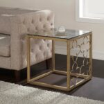 the curated nomad quatrefoil goldtone metal and glass end table gold wood accent coastal decor lamps diy legs ideas solid tables with storage pedestal side vintage drawers ikea 150x150
