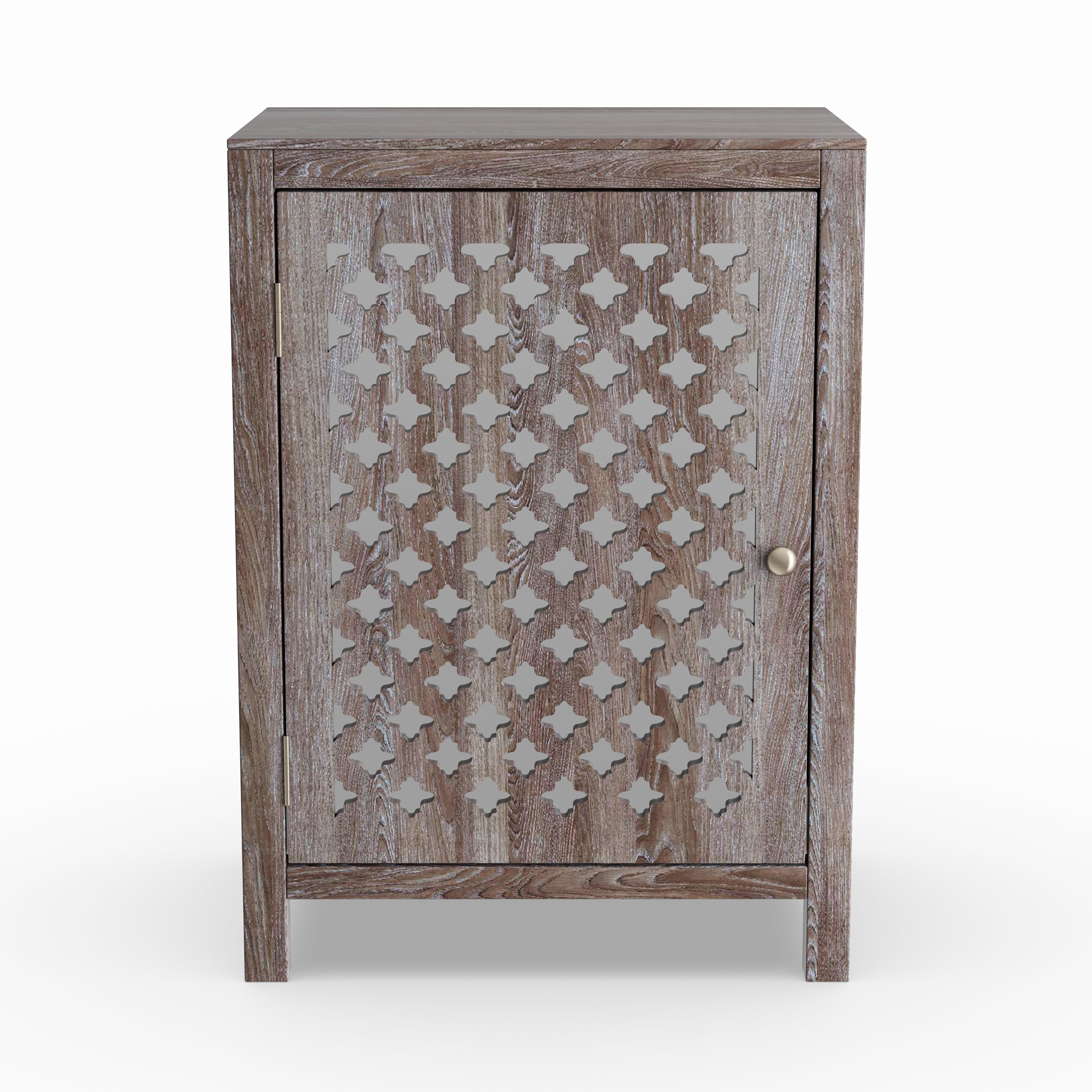 the curated nomad tabitha distressed grey quatrefoil end table maison rouge anatole with mirror accent wood stump windham one door cabinet beautiful coffee tables round and sets