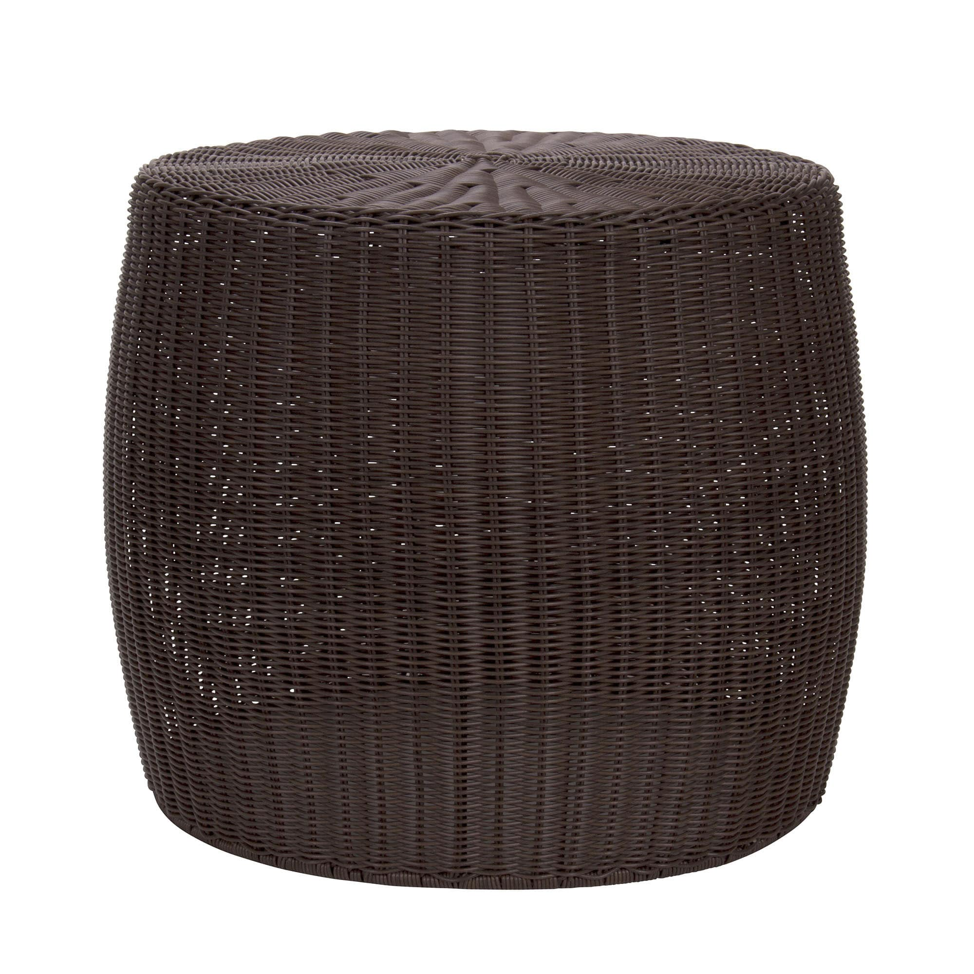 the curated nomad tipton brown resin wicker side table free household essentials outdoor shipping today large round dining teak furniture vancouver oak nightstand small lamps very