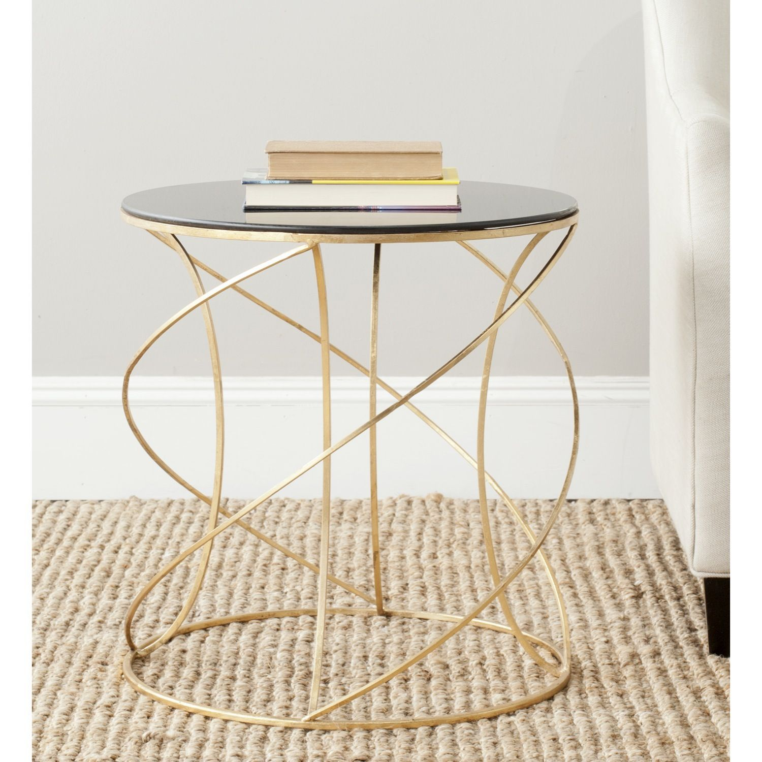 the dynamic curves and chic finish cagney accent table make gold polished addition any cor crafted with iron base black mid century modern cocktail canopy umbrella round