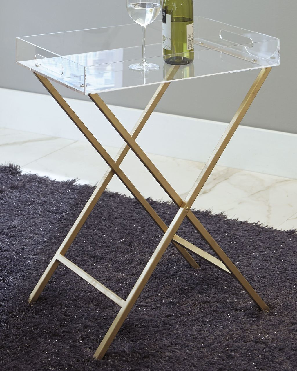 the ervinville clear gold finish accent table available gibson metal vintage wood side dining base only white modern brass chair and set cherry room kitchen sets kmart marble lamp