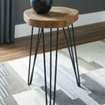 the eversboro brown black accent table available mike furniture target patio dining pier one chairs living room decor top legs rattan drum wicker end tables side lamp entry coffee 150x150